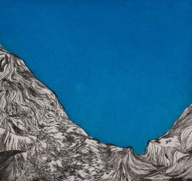 """Montagne bleue"", 2013"