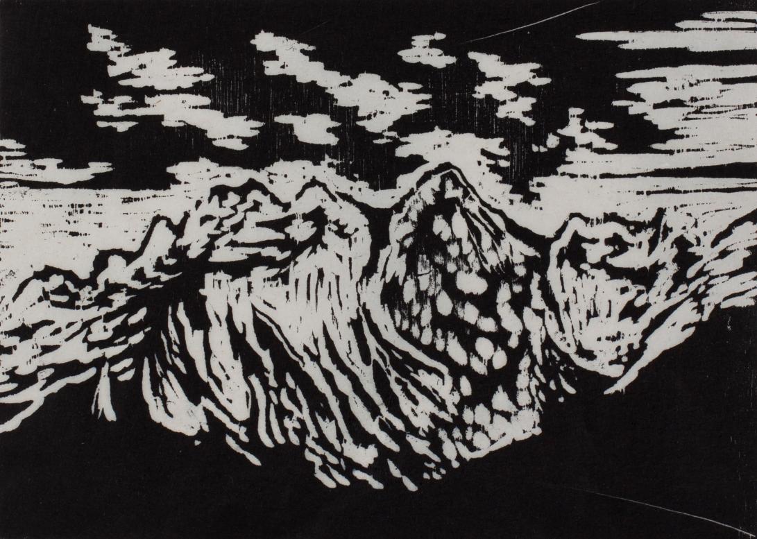 """""""étude montagne IV"""" // Taille d'épargne"""