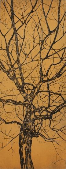 """Série arbre couleur // """"jaune"""", 2014"""