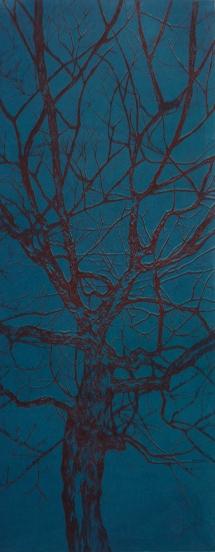 """Série arbre couleur // """"bleu et rouge"""", 2014"""