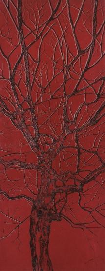 """Série arbre couleur // """"rouge"""", 2014"""
