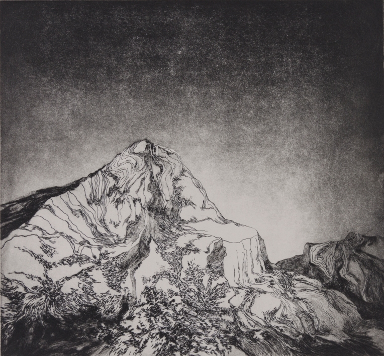 """""""Montagne II"""" // Taille-douce"""