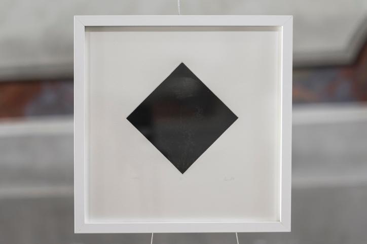 PAUSE III Gravure taille-douce, technique mixte (Dremel, burin et pointe-sèche) Format papier 30x30 cm