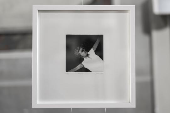 PAUSE IV Gravure taille-douce, technique mixte (Dremel et pointe-sèche) Format papier 30x30 cm