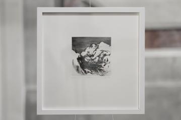 PAUSE VI Gravure taille-douce, technique mixte (Burin et pointe-sèche) format papier 30x30 cm