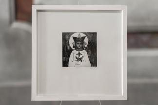 PAUSE II Gravure taille-douce, technique mixte (Burin et pointe-sèche) Format papier 30x30 cm