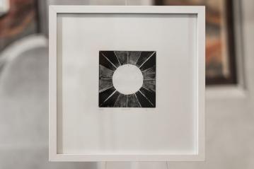 PAUSE XIV Gravure taille-douce, pointe-sèche, 30x30 cm