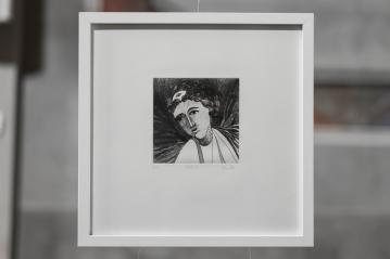 PAUSE XI Gravure taille-douce, technique mixte (Burin et pointe-sèche) 30x30 cm