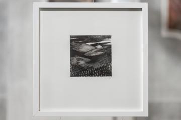 PAUSE X Gravure taille-douce, technique mixte (Pointe-sèche et dremel) 30x30 cm