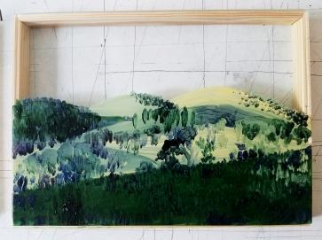 Huile sur verre - Plan II - 10X15 cm - 2019