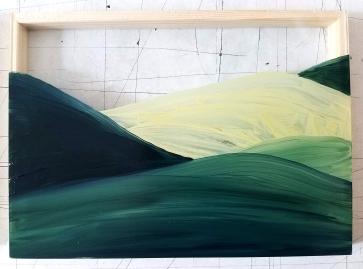 Huile sur verre - Plan III - 10X15 cm - 2019