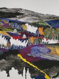 Fresque (Gouache, encre de chine et graphite) détail